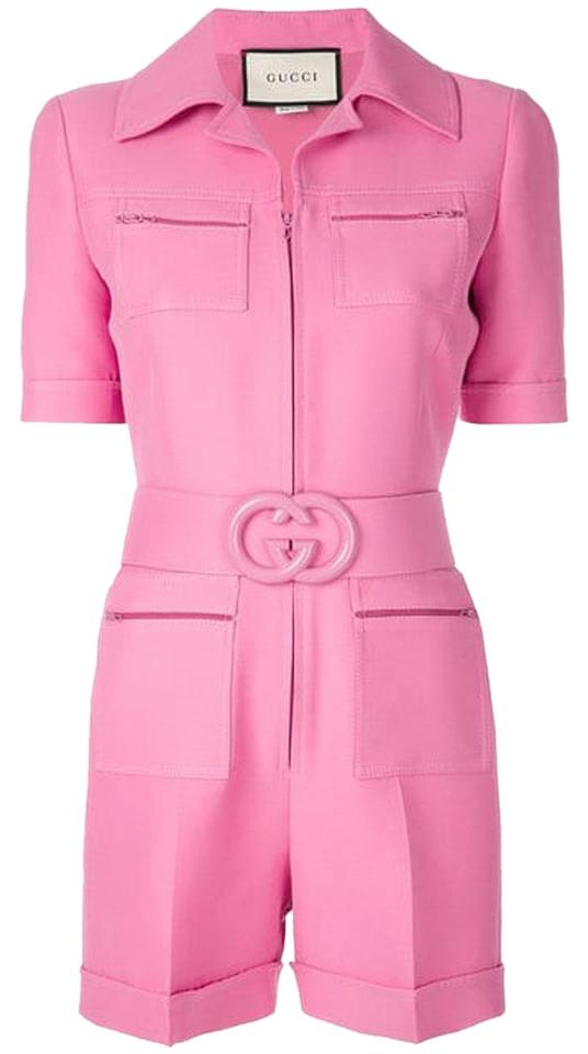 49c7edafb Gucci Pink Short Belted Playsuit Romper/Jumpsuit - Tradesy