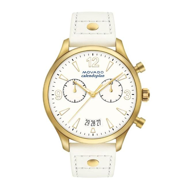 Movado White Heritage Chronograph Dial Ladies Watch Movado White Heritage Chronograph Dial Ladies Watch Image 1