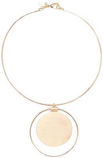 Preload https://img-static.tradesy.com/item/23864726/express-gold-circle-pendant-collar-necklace-0-1-540-540.jpg
