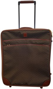 Hartmann Never Used Material Leather Jacquard with Cognac Trim Travel Bag
