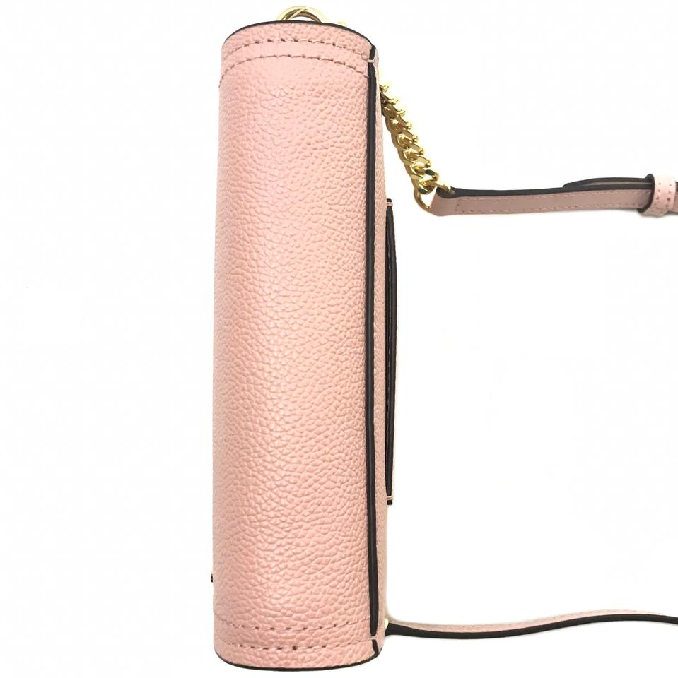 ff59ba1afae Michael Kors New Hayes Small Convertible Pink Leather Cross Body Bag 51%  off retail