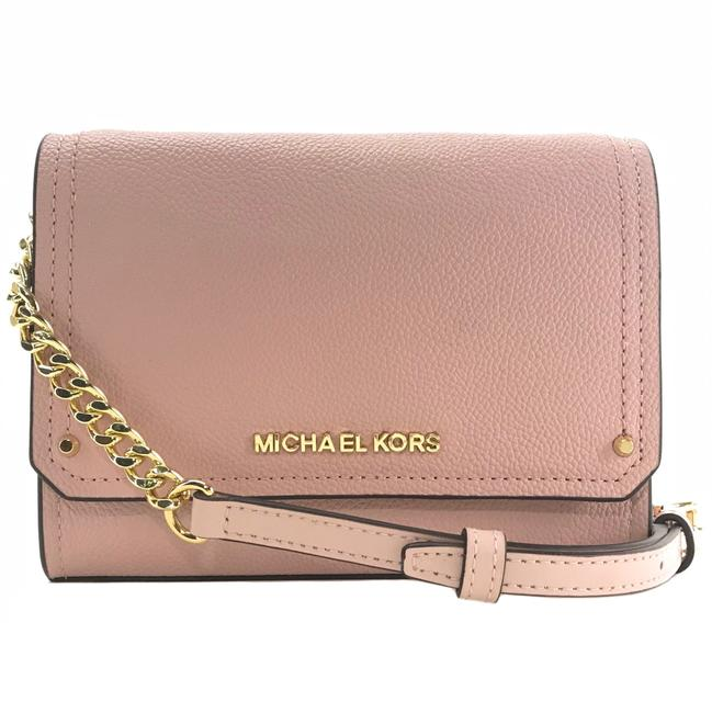 MICHAEL Michael Kors New Hayes Small Pink Leather Cross Body Bag MICHAEL Michael Kors New Hayes Small Pink Leather Cross Body Bag Image 1