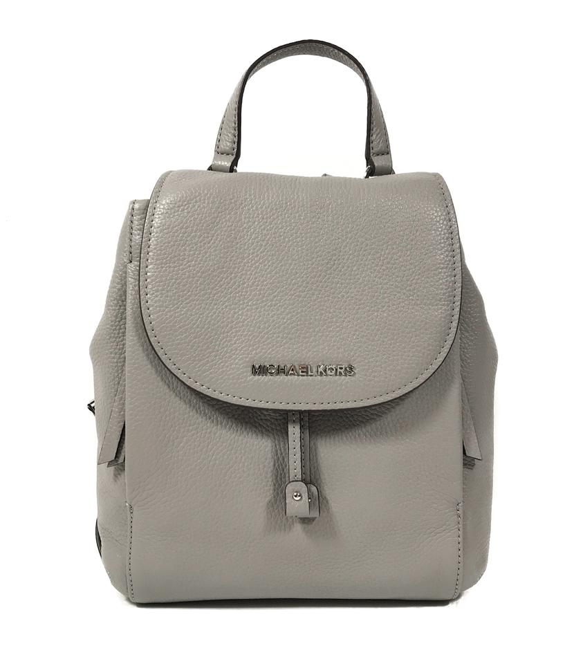 39d354737109 Michael Kors Riley Medium Gray Leather Backpack - Tradesy