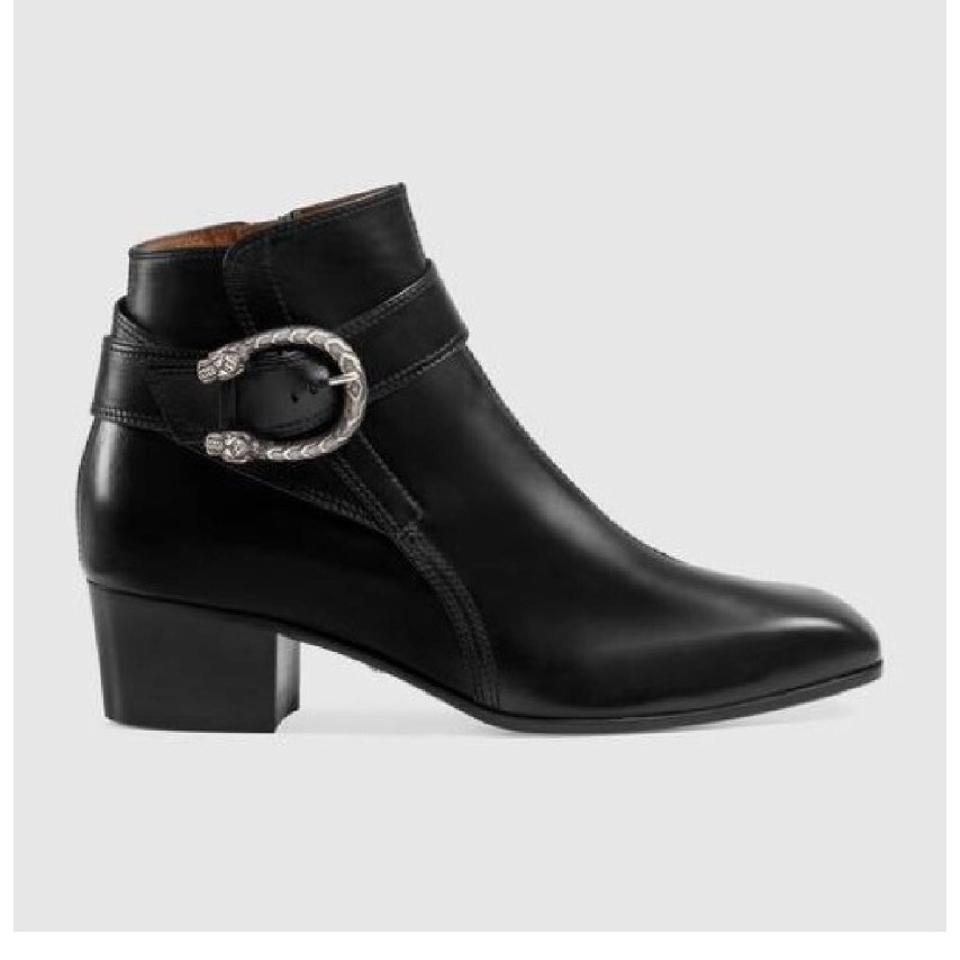 2a574b02878 Gucci Dionysus Leather Ankle Women Boots Booties Size EU 35.5 ...
