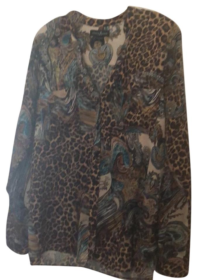 46afa6220 Guess By Marciano Multicolor Rn62136 Button-down Top Size 2 (XS ...