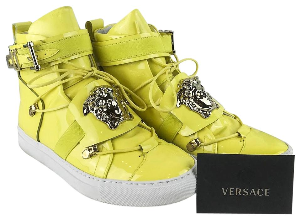 5245a6b0 Versace Yellow Patent Leather Medusa Head High Tops Men's Sneakers Size EU  36 (Approx. US 6) Regular (M, B) 70% off retail