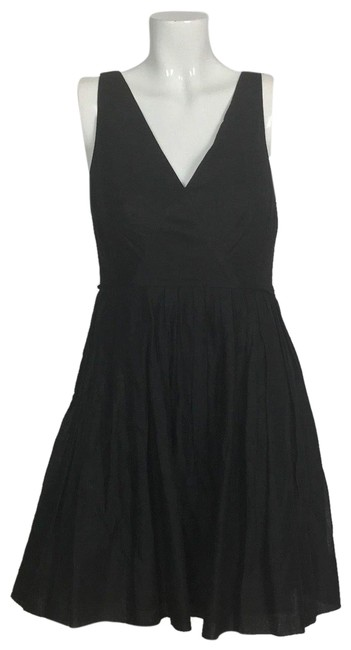 Preload https://img-static.tradesy.com/item/23865145/jcrew-black-fit-flare-sleeveless-career-business-short-cocktail-dress-size-4-s-0-1-650-650.jpg
