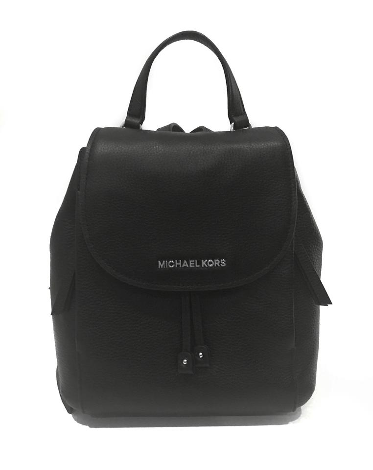 a42855f57ad2 Michael Kors Riley Medium Black Leather Backpack - Tradesy