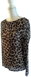 Kate Hill Top Black animal print