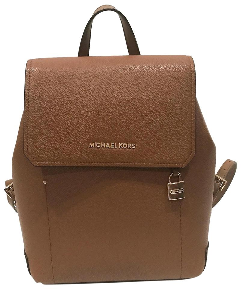 0c1e1cbf6d3f Michael Kors Hayes Medium Brown Leather Backpack - Tradesy