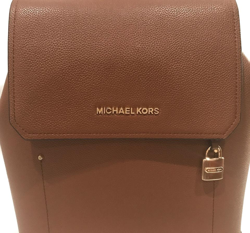 68b987f75008 Michael Kors Hayes Medium Brown Leather Backpack - Tradesy
