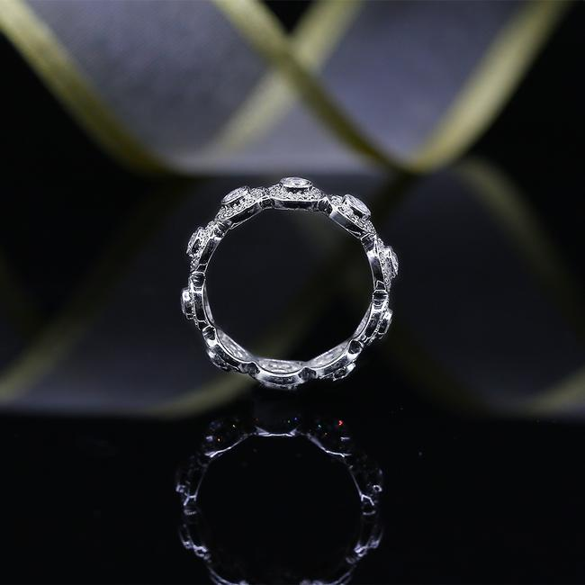 Unbranded 18k White Gold Eternity Band with Total 1.00ct Of Round Cut Ring Unbranded 18k White Gold Eternity Band with Total 1.00ct Of Round Cut Ring Image 1
