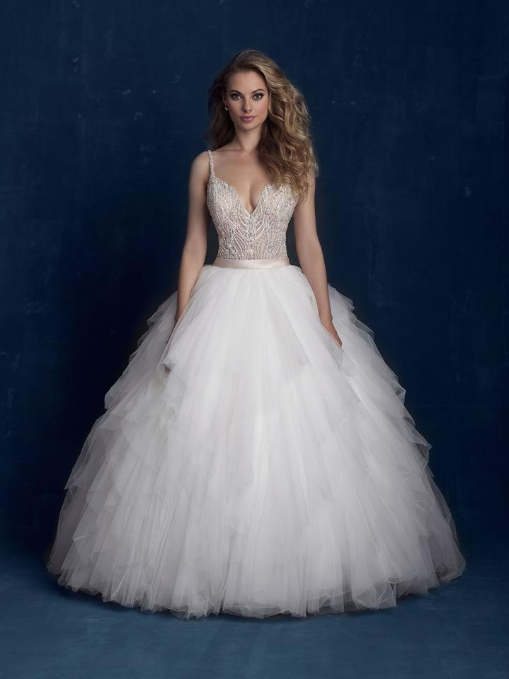 Allure Bridals Ivorychampagnesilver Beaded Top And Tulle Skirt