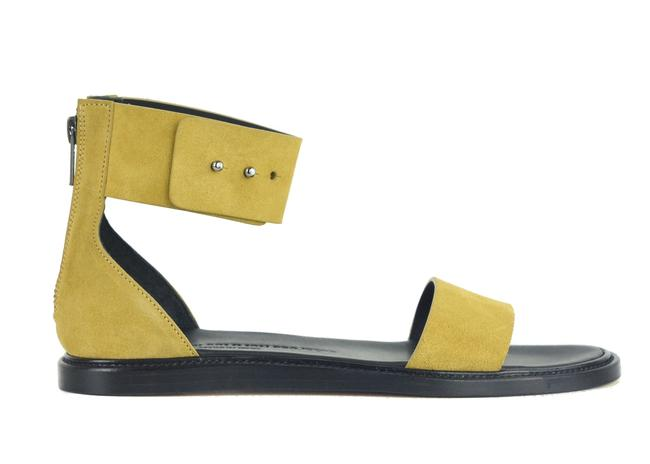 Item - Yellow Women By Tan Suede Zip Ankle Strap C2666 Sandals Size US 9 Regular (M, B)