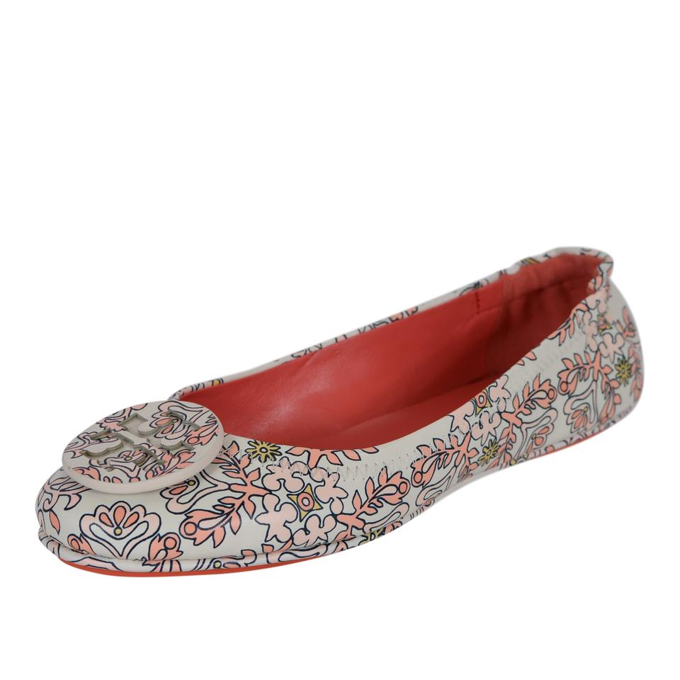 d8509802e19 Tory Burch Multicolor New Hicks Garden Nappa Leather Minnie Travel Ballet  Flats
