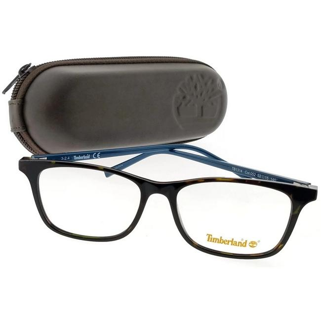 Timberland Tortoise Frame Tb1314-052-52 Rectangle Men's Clear Lens Eyeglasses Timberland Tortoise Frame Tb1314-052-52 Rectangle Men's Clear Lens Eyeglasses Image 1