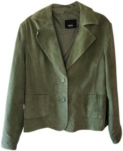 Mossimo Supply Co. green Leather Jacket