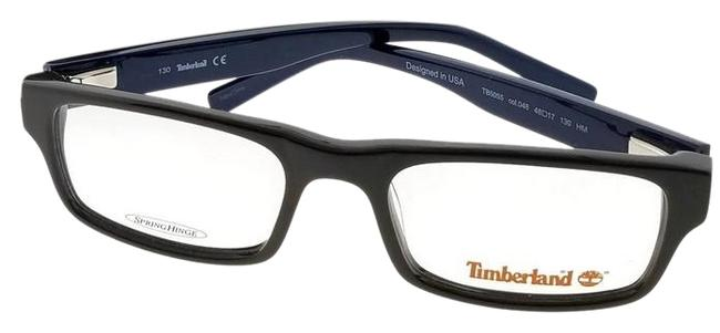 Timberland Brown Frame Tb5055-048-48 Rectangle Kid Clear Lens Genuine Eyeglasses Timberland Brown Frame Tb5055-048-48 Rectangle Kid Clear Lens Genuine Eyeglasses Image 1
