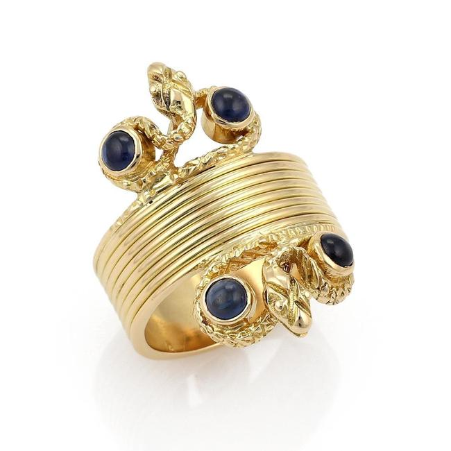19761 Lalaounis Cabochon Sapphire 18k Gold Snake Ring 19761 Lalaounis Cabochon Sapphire 18k Gold Snake Ring Image 1