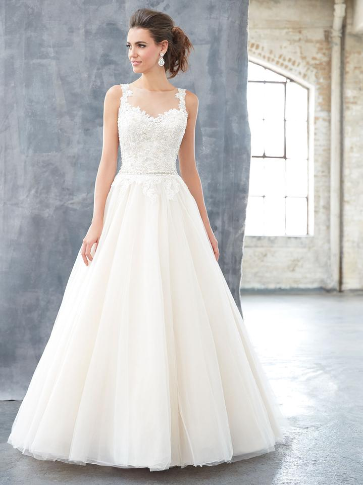 235ac33947656 MADISON JAMES Ivory/Nude/Silver Beaded Bodice and Tulle Skirt Mj304  Traditional Wedding Dress