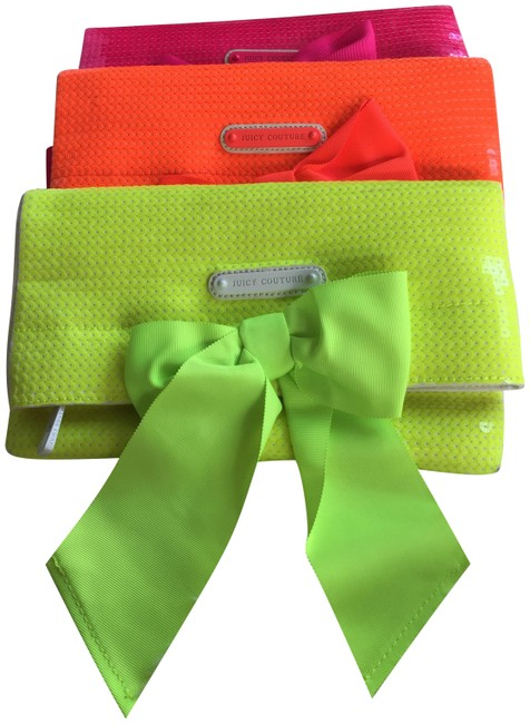 Item - Neon Yellow Sequins and Canvas Clutch
