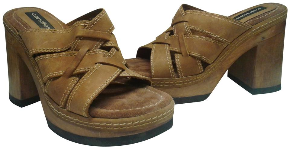 9689dfd8fb2734 Candie s Brown Woman s Leather Wood Synthetic 4.5