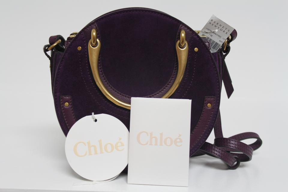 15000168c07d Chloé Pixie New Small Smooth Suede Purple Leather Shoulder Bag - Tradesy