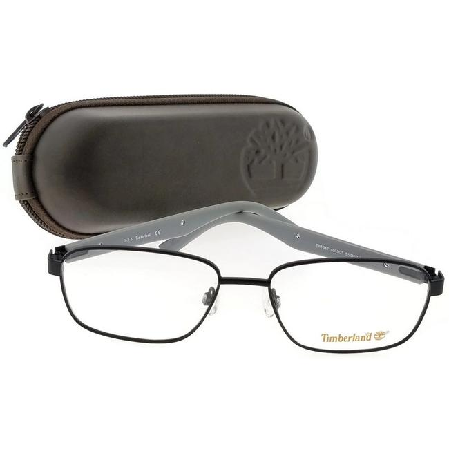 Timberland Black Frame Tb1347-005-55 Rectangle Men Clear Lens Genuine Eyeglasses Timberland Black Frame Tb1347-005-55 Rectangle Men Clear Lens Genuine Eyeglasses Image 1