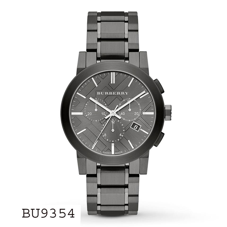 Burberry Men S Black Dial Ip Bracelet Chrono Watch Bu9354