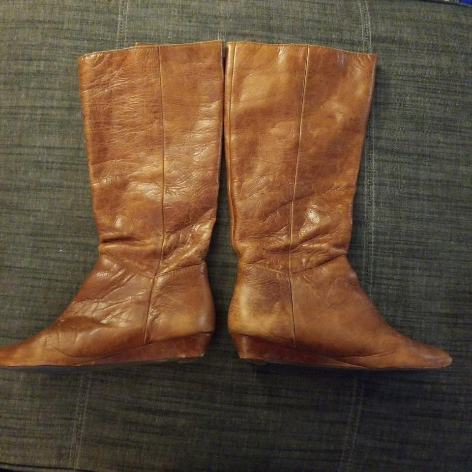 9388b304ee4 Steve Madden Brown Intyce Wedge Boots Booties Size US 6.5 Regular (M ...