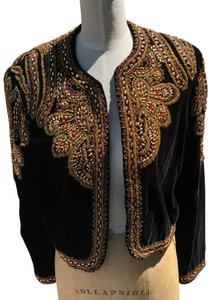 Diane Freis Ltd. Black/Gold Blazer