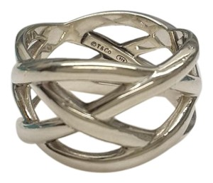Tiffany & Co. Tiffany & Co. Sterling Silver Braided Weave Knot Band Ring Sz 5.5