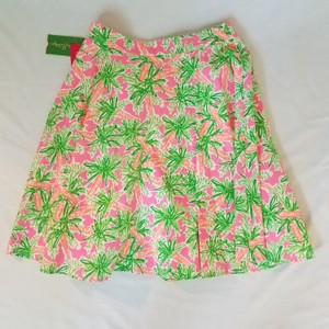 Lilly Pulitzer Skirt Green, fluorescent pink and orange