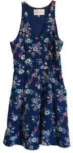 Charles Henry short dress Blue with Pink Flowers on Tradesy