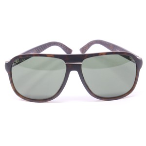 Gucci Square Pilot Men's GG 1076 Green Gradient Lens Sunglasses