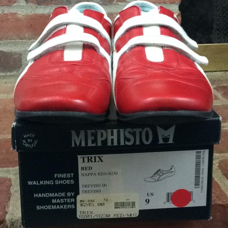 71f9b6c3174 Mephisto Red and White Nappa 8201 8230 Sneakers Size US 9 Regular (M ...