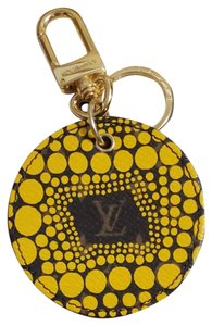 Louis Vuitton Auth Louis Vuitton Yayoi Kusama Yellow Monogram Bag Charm