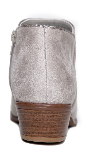 J. Adams Women Stylish Block Heel Chunky Heel Light Grey Suede Boots