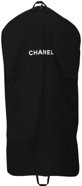Item - Garment For Dress Gown Pants Suits Black and White Canvas Weekend/Travel Bag