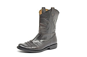Henry Cuir Barneys Ny Distressed Mid Calf Brown Boots