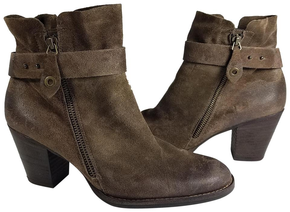 Paul Green Suede Brown Dallas Belted Suede Green Leather Women's Boots/Booties 487b55