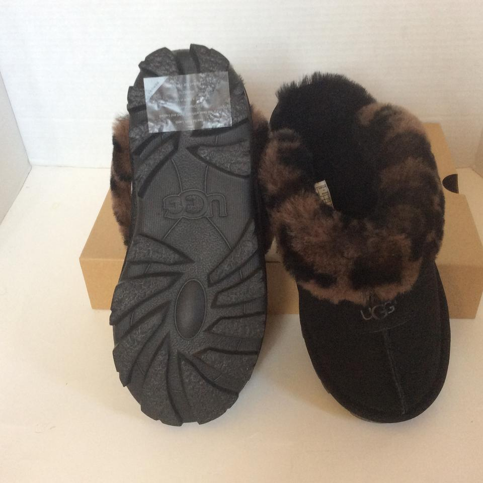 efd9e16689f UGG Australia Black Women's Coquette Leopard Slipper Mules/Slides Size US 6  Regular (M, B) 31% off retail