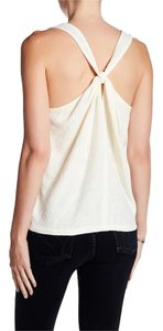 Madewell Racer-back Jacquard Cotton Top White / Ivory