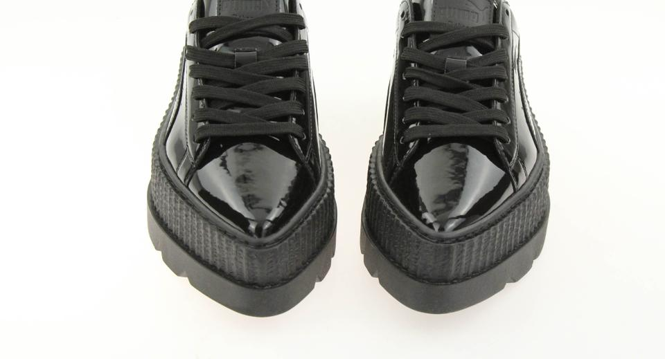 meet 99c16 40441 FENTY PUMA by Rihanna Black Patent Leather Pointy Creeper Platforms Size EU  37.5 (Approx. US 7.5) Regular (M, B) 64% off retail