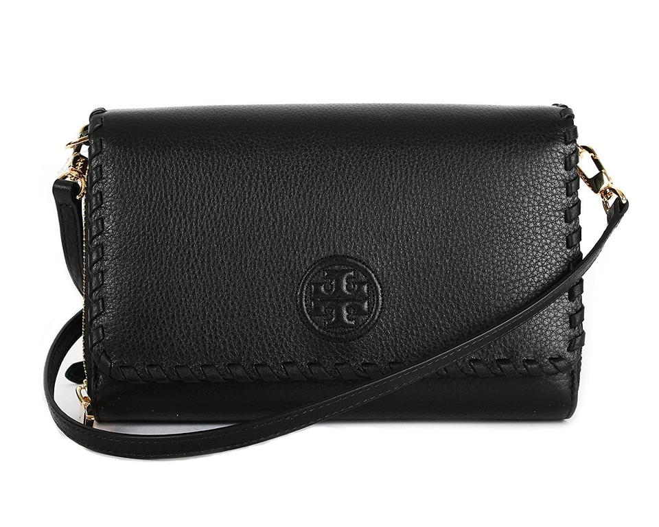 Tory Marion Cross Wallet Burch Bag Body Flat Black Leather 71rqPAp76w