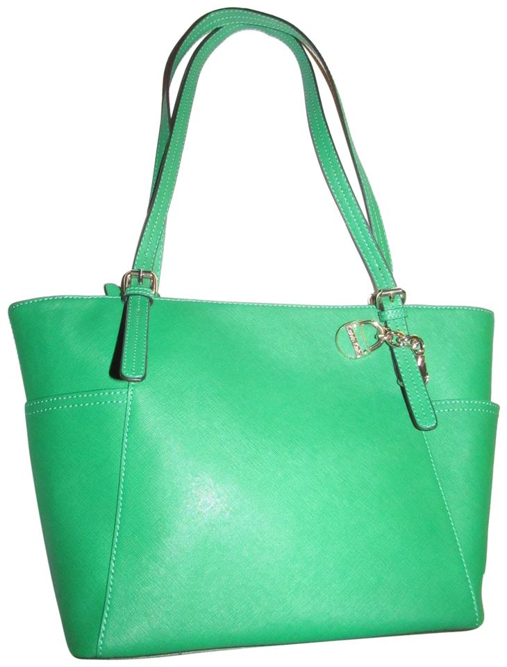 2abd32c323e0 Calvin Klein Pop Of Color Multiple Compartment Footed Bottom Nwot Mint  Condition Satchel in kelly green ...