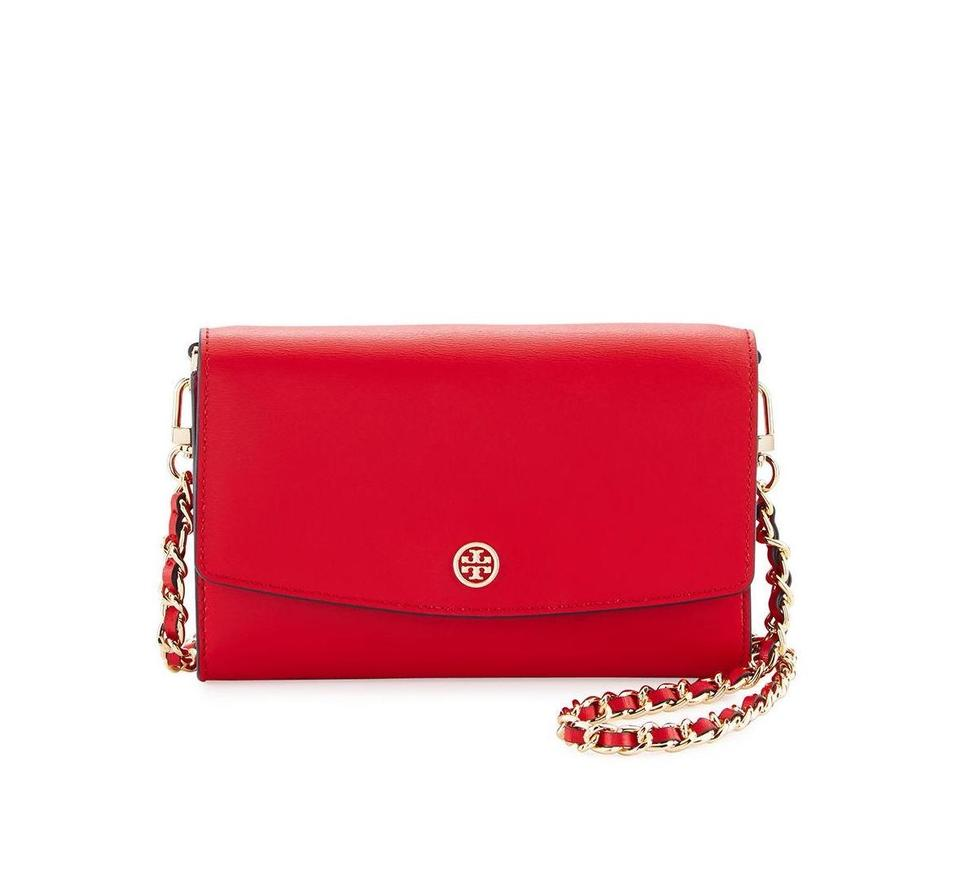 Clutch Tory Wallet Parker Burch Red Body Cross Leather Bag tAAqS