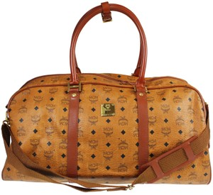 MCM Duffle Boston Keepall Bandouliere Speedy Brown Travel Bag