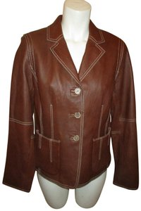 CAbi 001 brown Leather Jacket