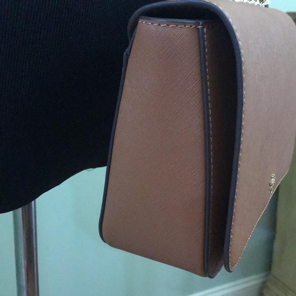 Bag Burch Leather with Adjustable Crossbody Brown Emerson Dustbag Shoulder Saffiano Tory New TPqgzdww